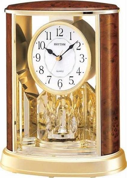 Stolov� hodiny RHYTHM Woodgrain