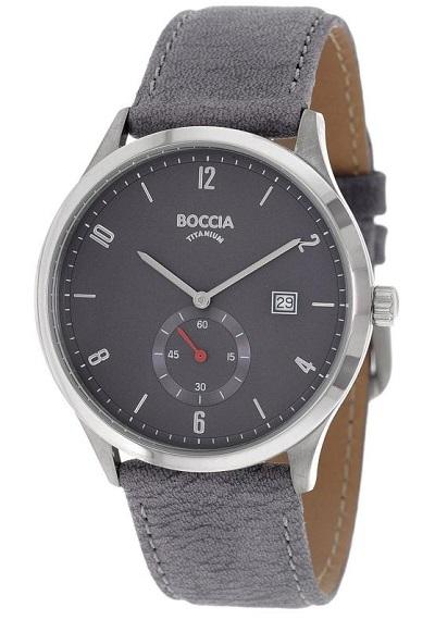Boccia Titanium p�nske hodinky grey