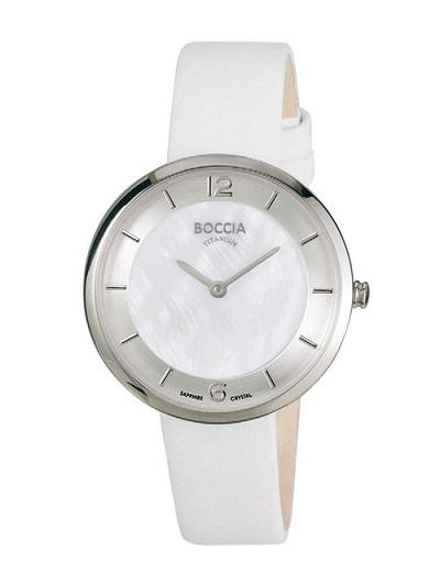 Boccia Titanium d�mske hodinky white