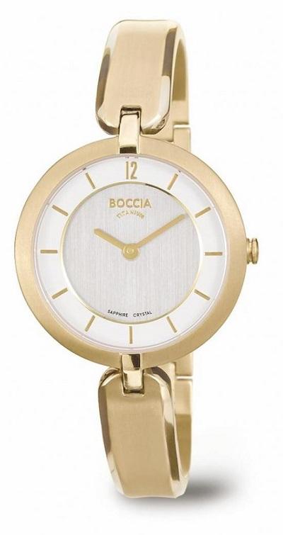 Boccia Titanium d�mske hodinky gold