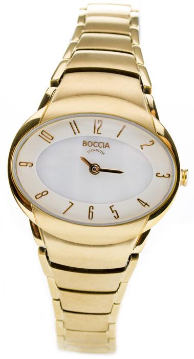 Boccia Titanium d�mske hodinky ov�l gold