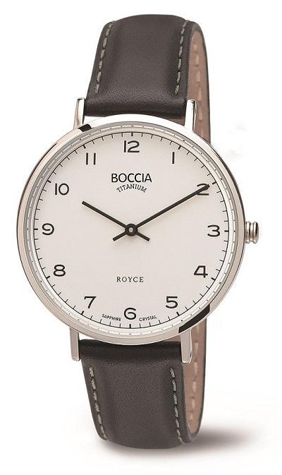 Boccia Titanium ROYCE d�mske hodinky brown