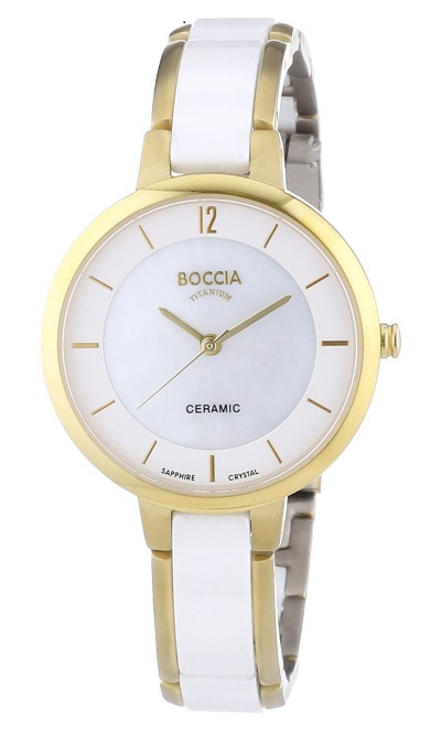 Boccia Titanium d�mske hodinky Ceramica/Gold