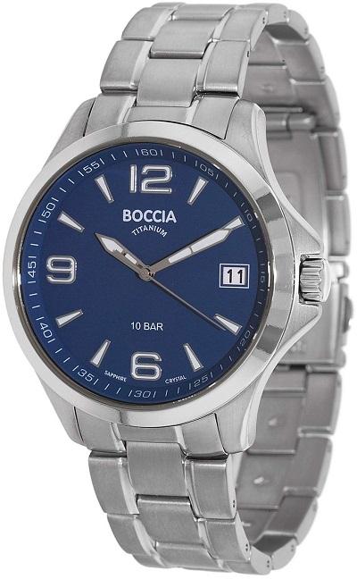 P�nske hodinky BOCCIA TITANIUM blue/silver