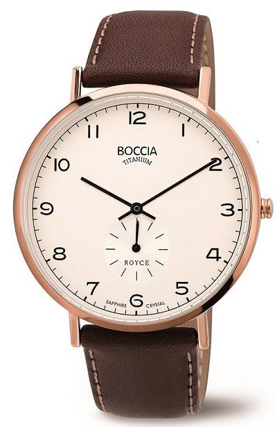 P�nske hodinky BOCCIA TITANIUM rose gold