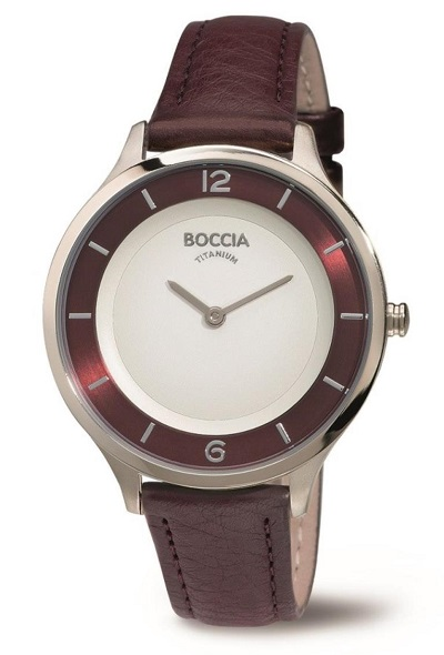 Boccia Titanium d�mske hodinky red