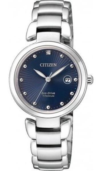 D�mske hodinky CITIZEN ECO DRIVE Blue TITANIUM