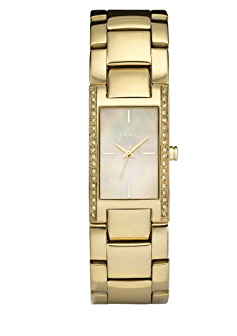 D�mske zlat� hodinky DKNY